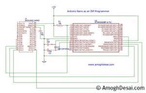 bootload program atmega328 with nano uno as isp