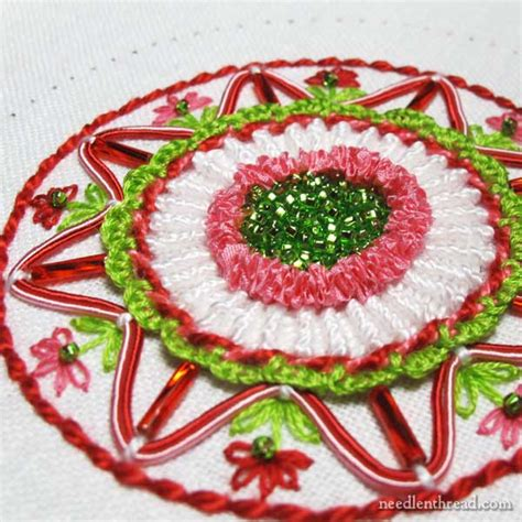 hand embroidered christmas ornament part 3
