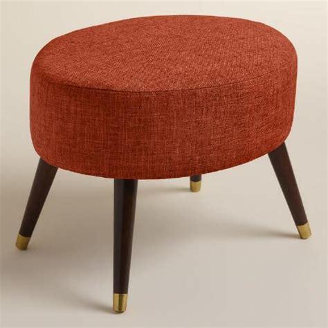 pouf ottoman world market linen kern oval upholstered ottoman world market