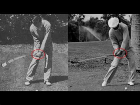 golf swing secret ben hogan golf swing face on ben hogans secret youtube