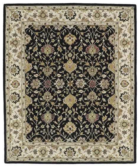 Black Area Rugs Kaleen Taj Taj13 02 Black Area Rug