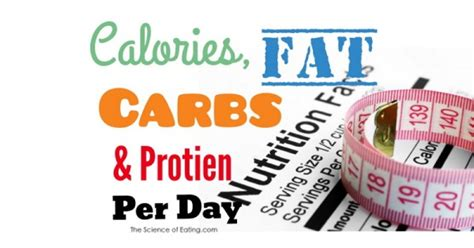 carbohydrates calories calories carbs protein per day