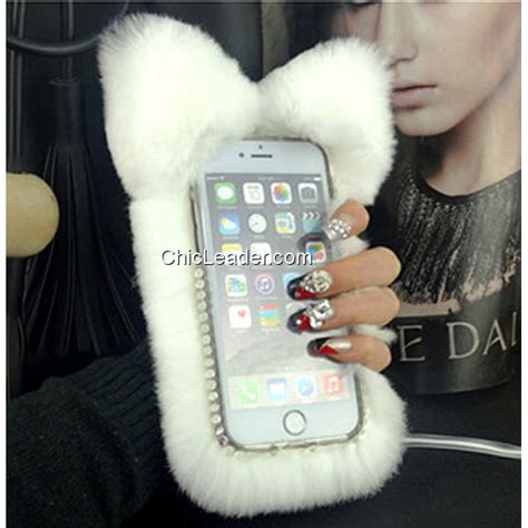 Flower Fur For Iphone 7 Plus Iphone 8 Plus fuzzy cat ears soft rabbit fur for iphone 6 6s