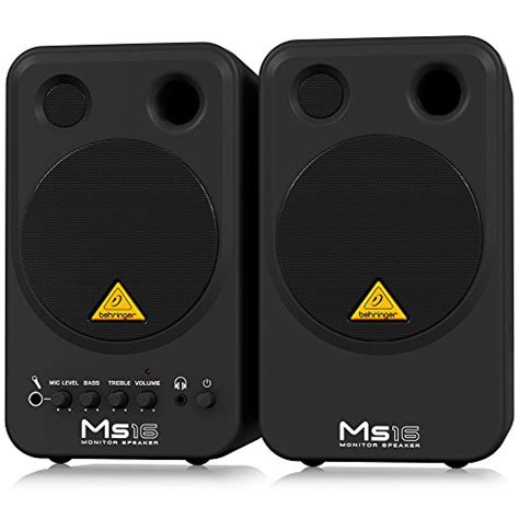 Speaker Monitor Behringer Ms16 16 Watt behringer ms16 stereo monitor lautsprecher 16 watt