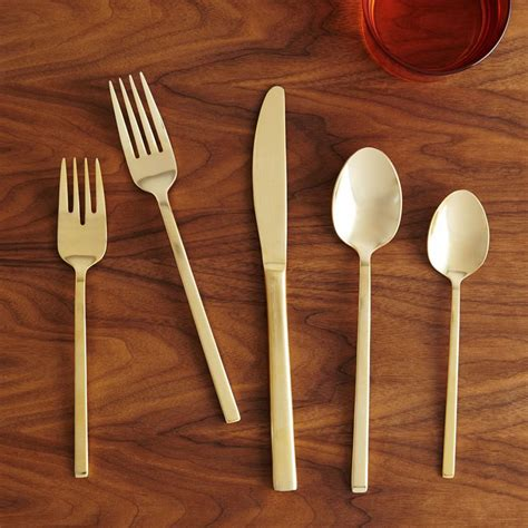 elm table setting gold cutlery 5 pc place setting elm au