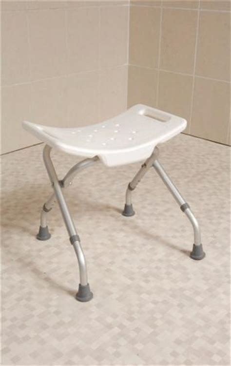 Folding Shower Stool by Folding Shower Stool With Moulded Plastic