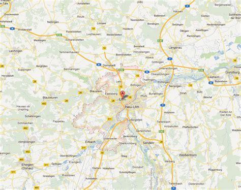 map of ulm germany ulm map