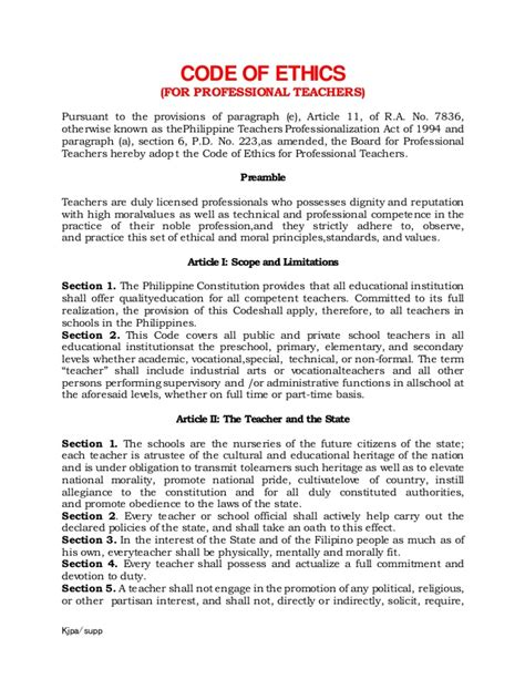 Code Of Ethics For Teaching Profession Contractor Code Of Business Ethics And Conduct Template