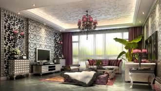 ausgefallene wohnzimmer fancy living room with luxurious wallpapers 3d model max