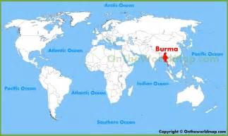 Burma World Map by Burma Location On The World Map