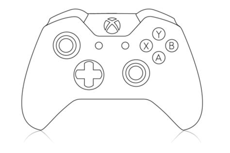 xbox  controller outline sketch coloring page