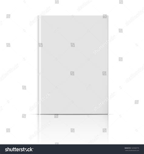 Book Cover Template Illustrator by Blank Vertical Book Cover Template Standing On White
