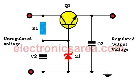 transistor zener transistor zener diode voltage regulator circuit electronics area