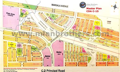 Land Plots For Sale by Map Of Cda Sector C 15