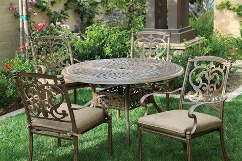 patio furniture dining set cast aluminum 48 quot table