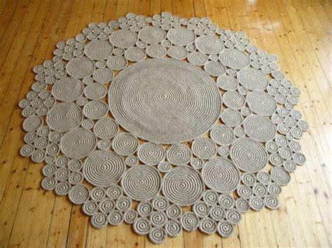 tappeti di corda 6 ft crochet jute circle rug 100 naturals materials