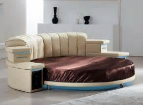 Round Leather Bed Black Leather Round Bed Modern Bedroom Furniture