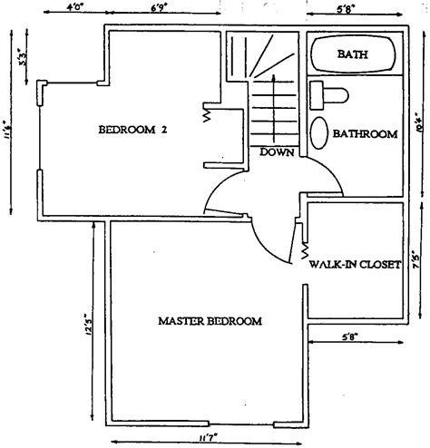 split two bedroom layout floor plans