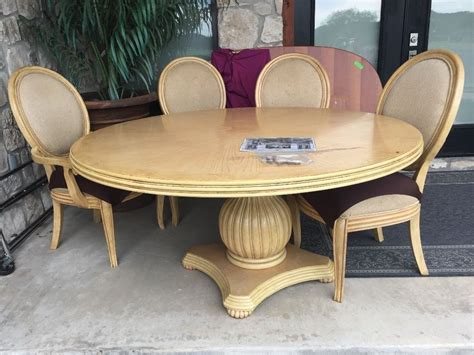 Round 60 Quot Dining Table And 4 Chairs Ebay Dining Tables And Chairs Ebay