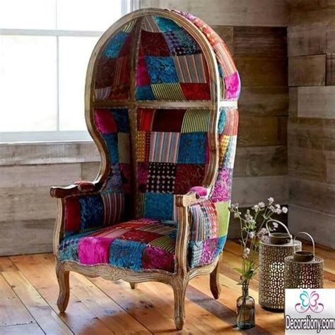 Boho Patchwork Chair - creative patchwork chair design for the living room