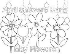 coloring pages of may flowers students can color in the flowers and the saying