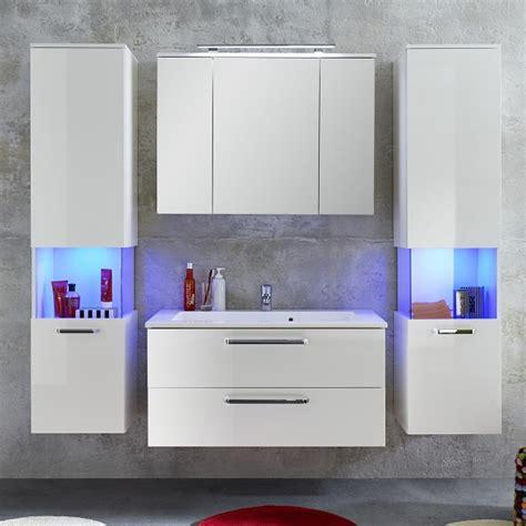 Dale Wall Mount Bathroom Furniture Set White High Gloss Led High Gloss White Bathroom Furniture
