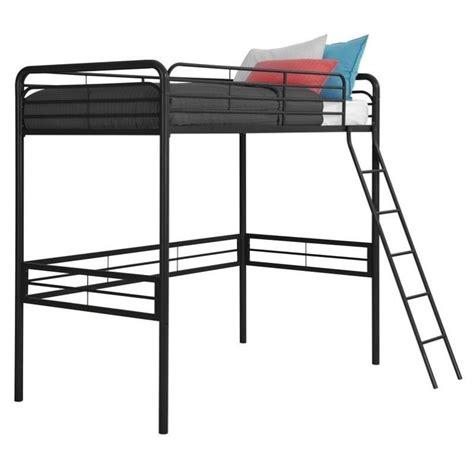 metal twin loft bed dhp metal twin loft bed in black ebay