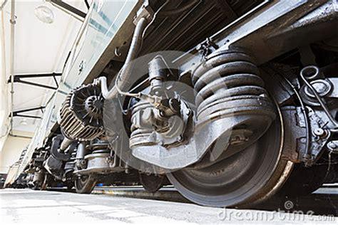 Wheels X Trayn Green passenger trains transmission tires wheels stock photo