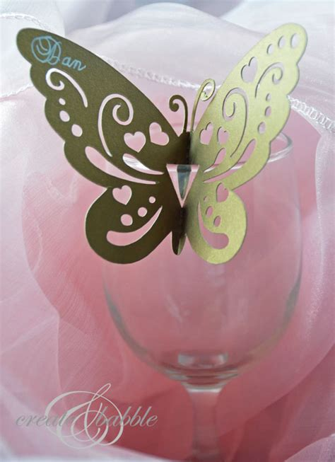 butterfly place cards for wine glasses template how to make butterfly place cards with silhouette cameo