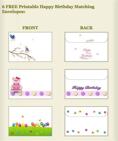 printable birthday cards and envelopes 14 best images about printable envelopes on pinterest