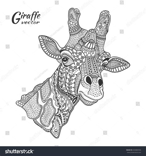 coloring books for boys animal designs zen doodled teenagers detailed inspirational coloring pages zen doodled pets leopards lions horses more children coloring books volume 2 books giraffe stylized animal ethnic stock vector