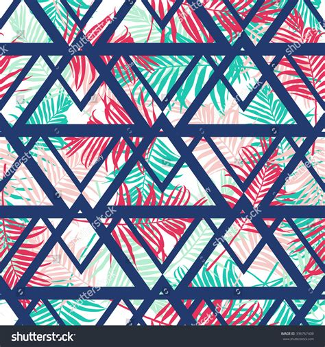 geometric pattern leaf tropical palm leaf pattern geometric backgroundvector