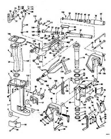 15 hp evinrude parts diagram evinrude exhaust housing parts for 1976 15hp 15604a