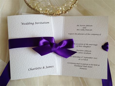 wrap ribbon wedding invitations wedding invites