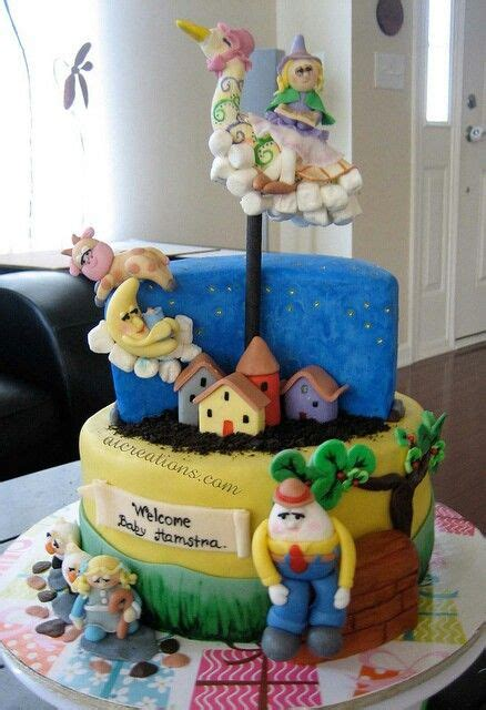 party themes rhyme nursery rhyme themed baby shower cake nursery rhymes