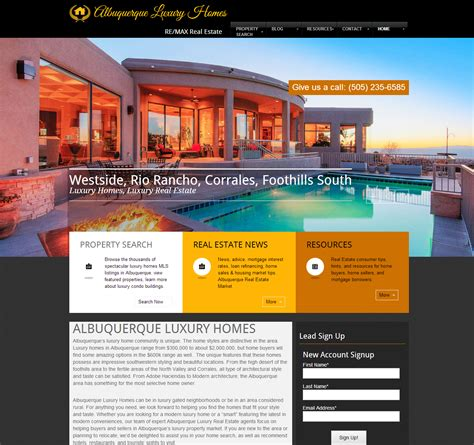 Home Design Story For Computer Remax Luxury Real Estate Website Design Robust Group