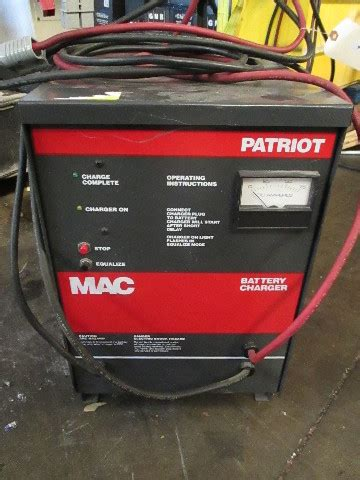 mac patriot vdc automatic battery charger  single service  ah