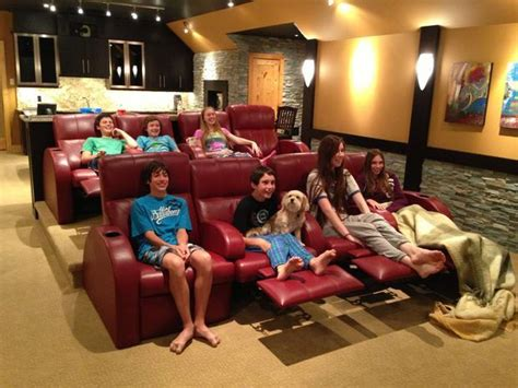 check out the new trends in home theatre seating includes