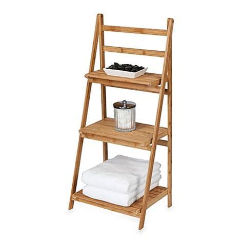 bamboo shelves bathroom creative bath bamboo 3 shelf ladder tower bed bath beyond