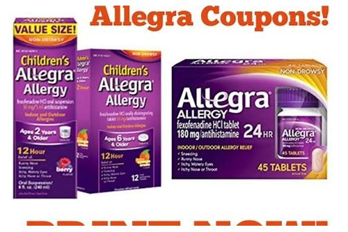 printable coupon for allegra allergy
