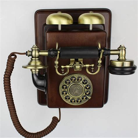 Antique Telephone Vintage Fashion Telephone vintage style phone appareil antique wall mounting set telephone fashion wall hanging wall