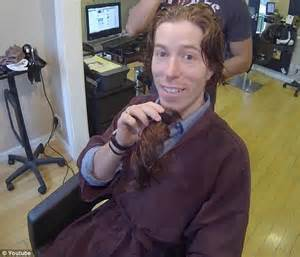 snowboarding pro shaun white chops off his trademark red