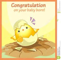 congratulation on your baby born greeting card royalty free stock photo image 27760775