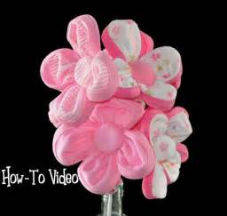 How to make a washcloth flower bouquet video instructions diaper