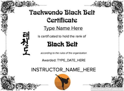 taekwondo certificate templates taekwondo black belt certificate template free to