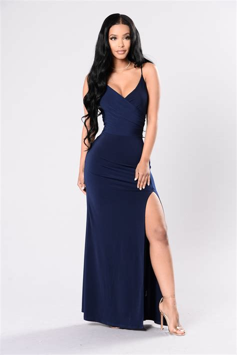 Navy Fashion high dress navy