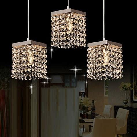 modern pendant lighting for kitchen island mamei free shipping modern 3 lights crystal pendant
