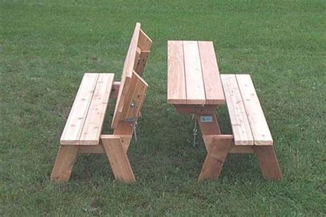 easy picnic table bench plans diy picnic table folding
