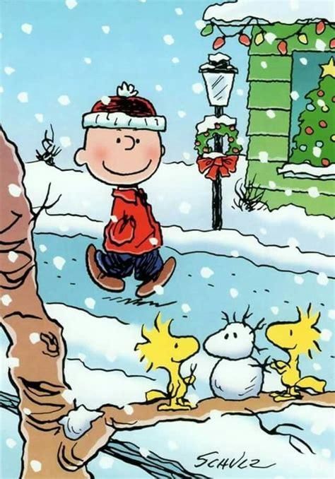 peanuts winter christmas cartoons charlie brown snoopy snoopy woodstock