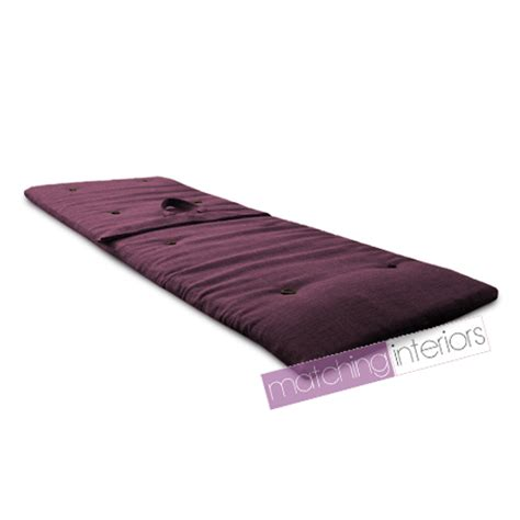 futon roll plum purple travel guest sleepover mattress roll up futon